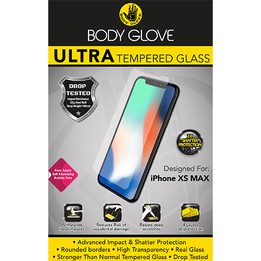 Body Glove Ultra Tempered Glass Protector For Iphone Xs Max
