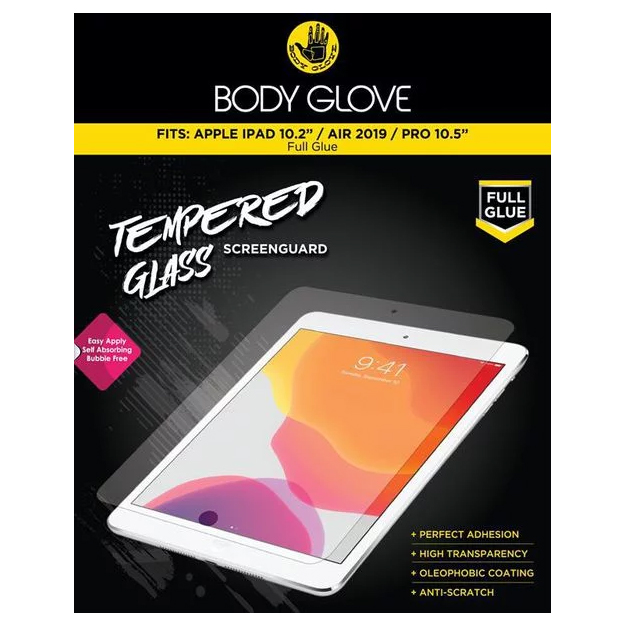 Body Glove Tempered Glass For iPad 10.2 inch/iPad Air 2019/iPad Pro 10.5 inch