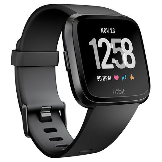 Fitbit Versa Fitness Watch Black Aluminum