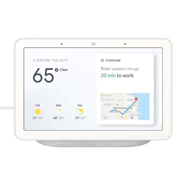 Google Home Hub Smart Home Controller Chalk White Demo