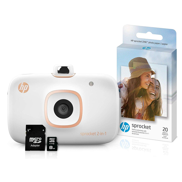 HP Sprocket 2-in-1 Smartphone Printer & Instant Camera White