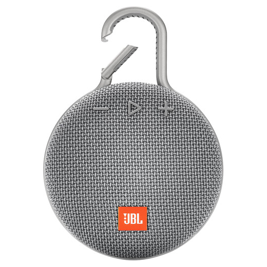 JBL Clip 3 Waterproof Bluetooth Speaker Grey Demo