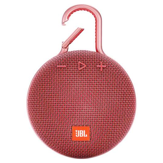 JBL Clip 3 Waterproof Bluetooth Speaker Red