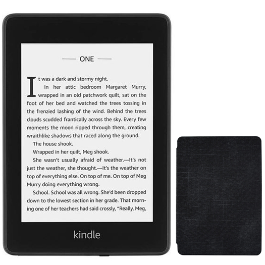 Amazon Kindle Paperwhite Waterproof Wi-Fi With Special Offers 8GB Black (10th Gen 2018) Bundle