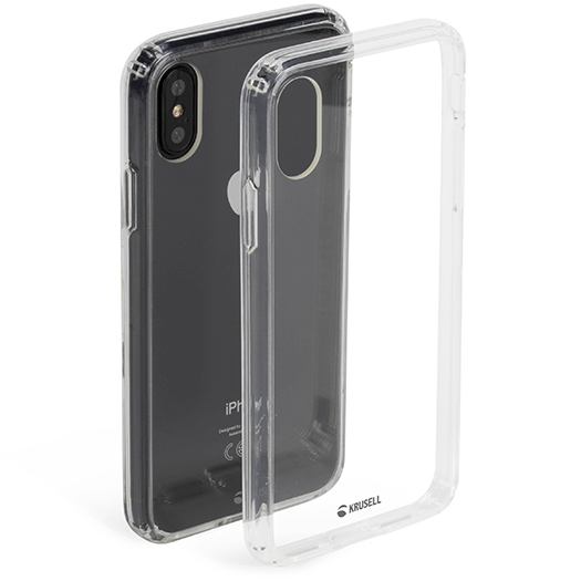 Krusell Kivik Cover For iPhone X Clear