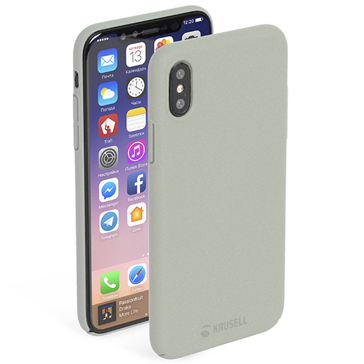 Krusell Sandby Cover For iPhone X Sand