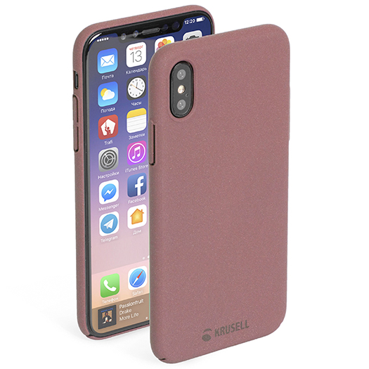 Krusell Sandby Cover For iPhone X/Xs Rust