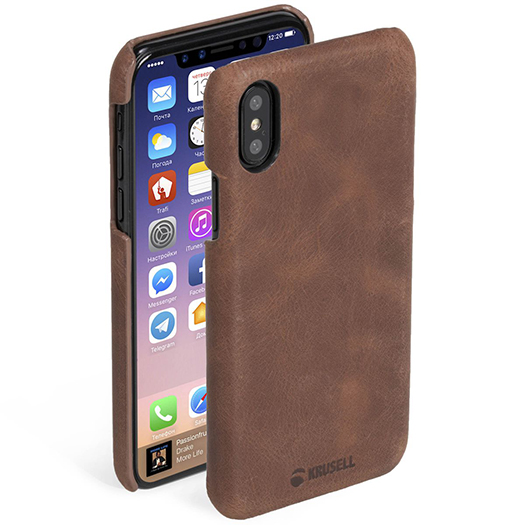 Krusell Sunne Cover For iPhone X/Xs Cognac