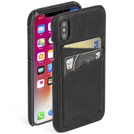 Krusell Sunne 2 Card Cover For iPhone X Black