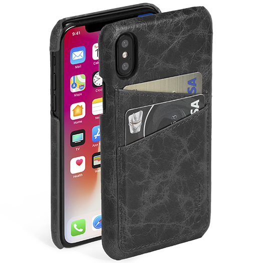 Krusell Tumba 2 Card Cover For iPhone X Black