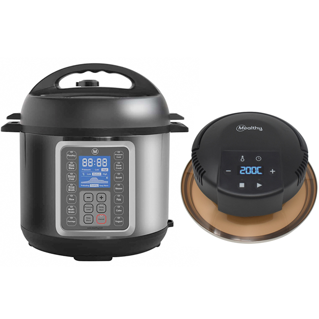 Mealthy MultiPot Pressure Cooker (6 Litre) With CrispLid Bundle
