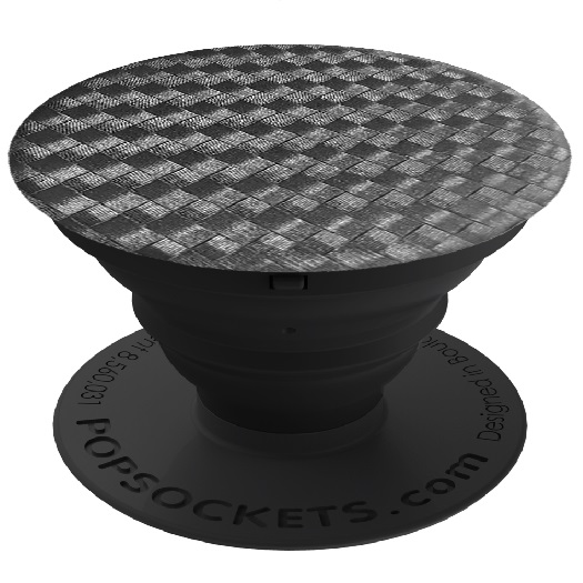 Popsockets Cellphone Grip & Stand Carbonite Weave