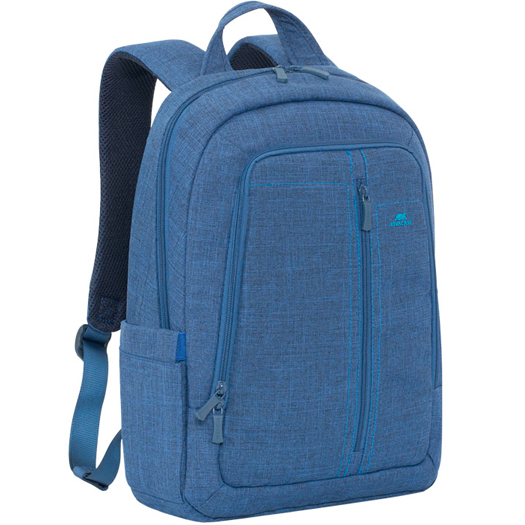 Rivacase Canvas Backpack For Laptops Up To 15.6 inch Blue
