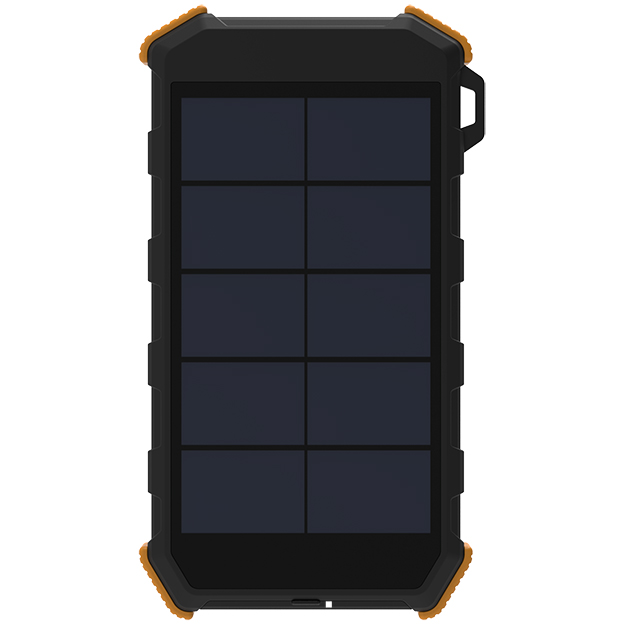 SolarMate 20 000mAh Powerbank With Wireless Charging & LED Light Orange