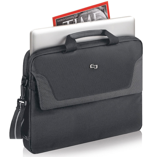 Solo Flatiron Slim Laptop Briefcase For Up To 16 inch Laptops Black