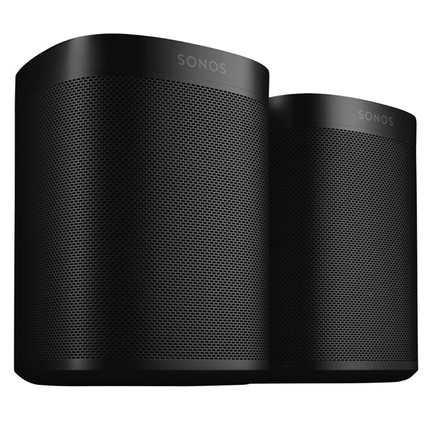 Sonos ONE Speaker (2nd Gen) + Sonos ONE SL WiFi Speaker Bundle Black