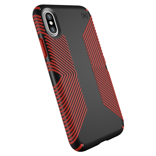 Speck Presidio Grip Case For iPhone X/Xs Black/Red